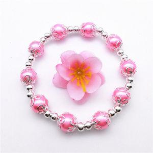 Jewelry - Silver Pink Pearl Stretch Bead Bracelet 10mm